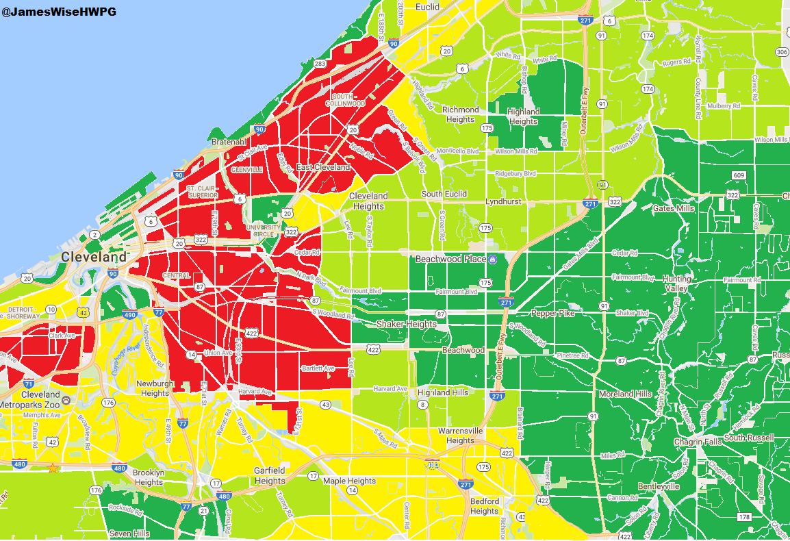 44135 Zip Code Map.The Ultimate Guide To Grading Cleveland Neighborhoods