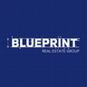 Medium blueprint logo square print darkblue grid solid  1