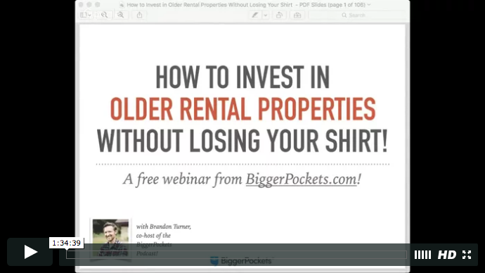 How to invest in older rental
