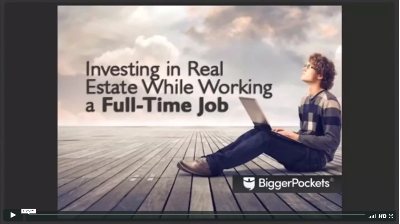 How to invest in real estate while working a full time job