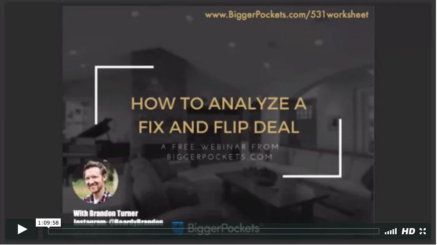 How to analyze fix and flip