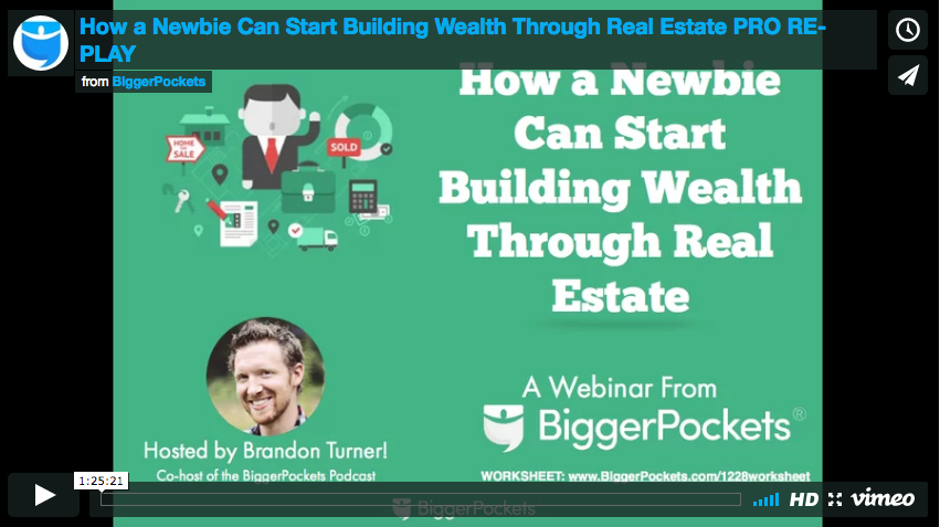 How a newbie can start building wealth through real estate