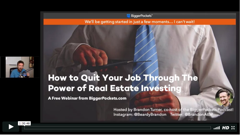 How to quit your job through the power of real estate investing
