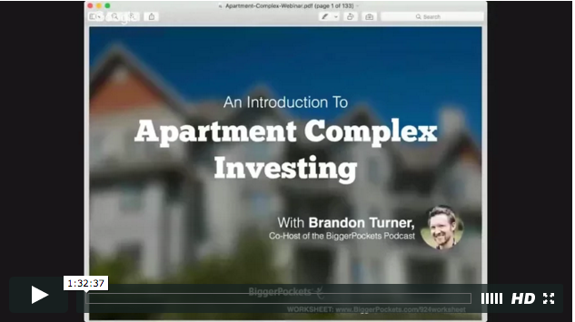 An introduction to investing in apartment complexes