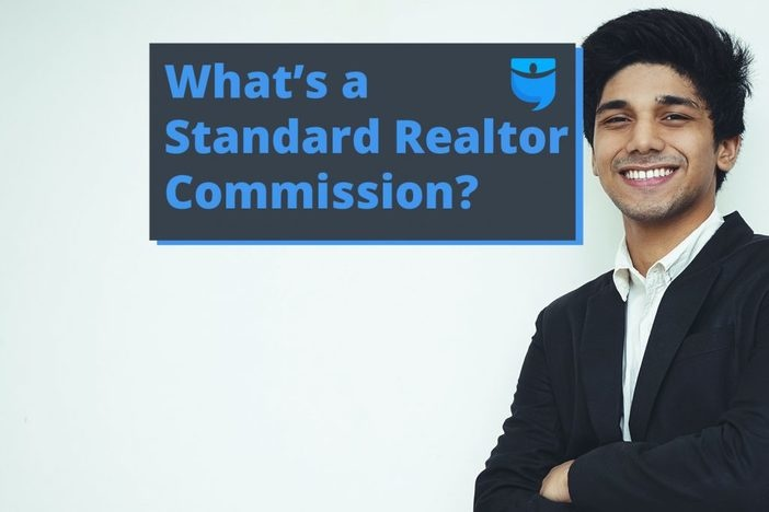 header image for realtor commission article with smiling man