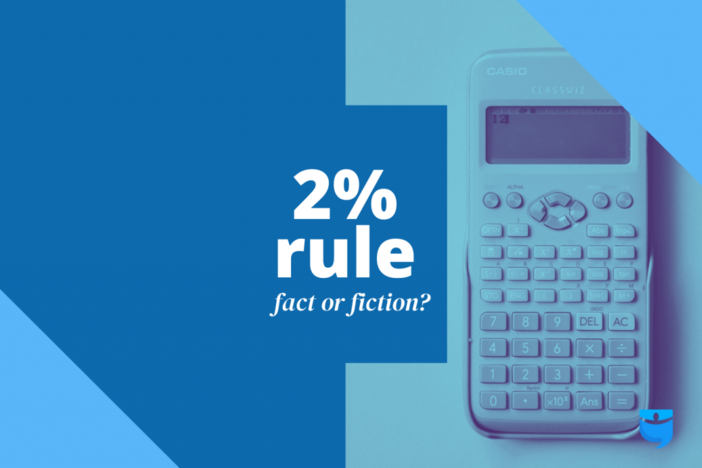 image of calculator with article title superimposed